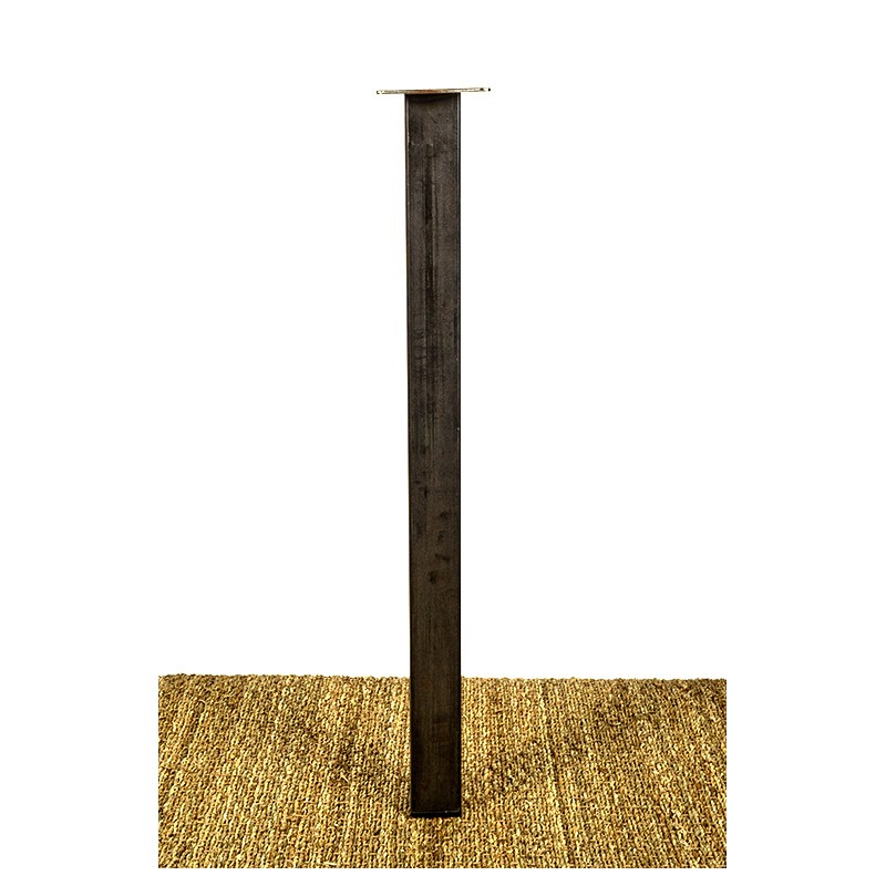 Pied de Table acier, en tube carré Made In France