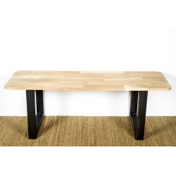 Bench made with our Olympe feet. Size of 40 cm by 40 cm