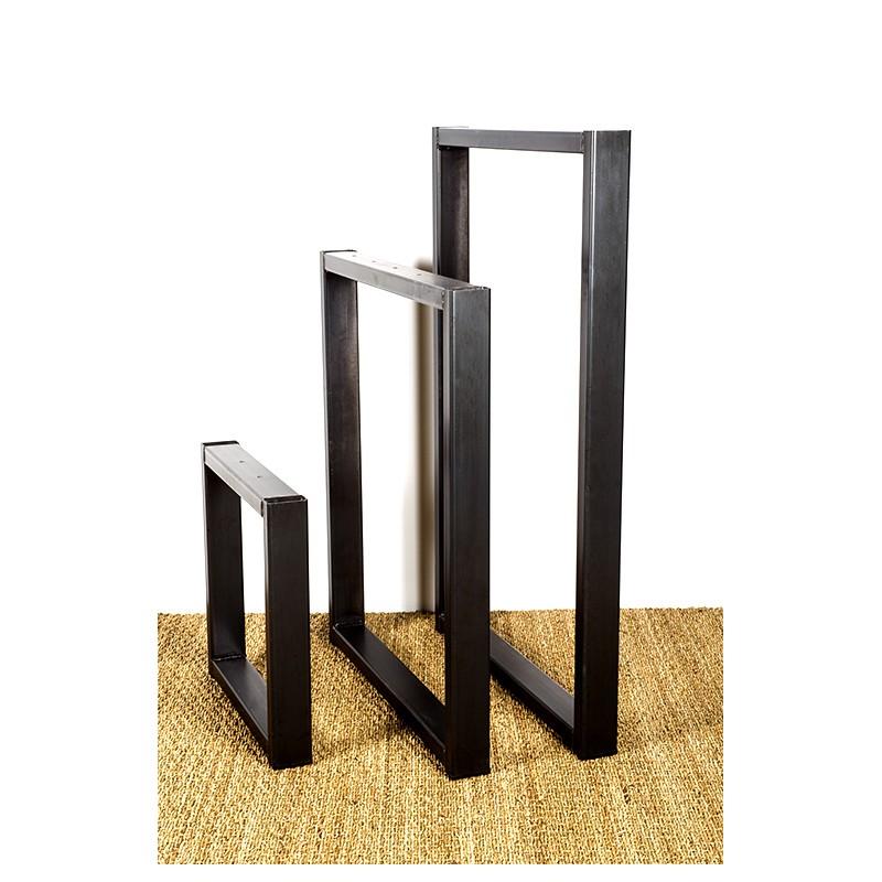 Olympe, pied de table en métal, fabriqué à partir d'acier industriel