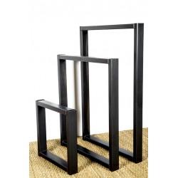 Olympe, pied de table en métal, fabriqué à partir de tube d'acier