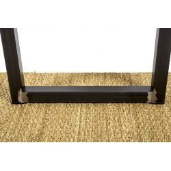 Ulysse, pied de table en acier design, base du pied, détails