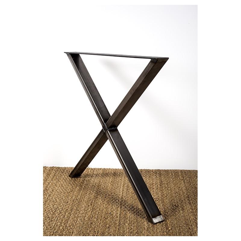 Pied de table en croix, modèle Xénia