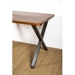 Xénia - Metal cross table leg