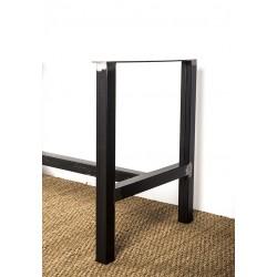 Héraclite - pied de table métal en structure. Détail
