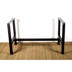 Héraclite - pied de table métal en structure. Vue générale