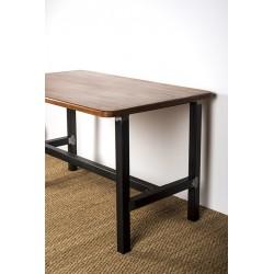 Héraclite - pied de table métal en structure avec plateau