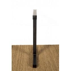 Metal table leg, Icare model, profile view