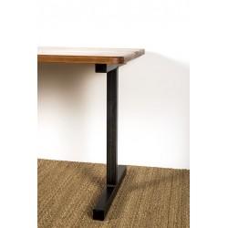 Pied de bureau design en métal, modèle Icare, vue d'angle.