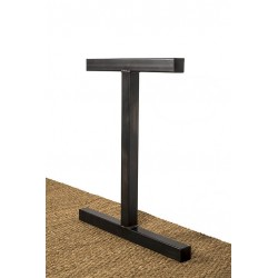 Metal table leg, Icare model, side view
