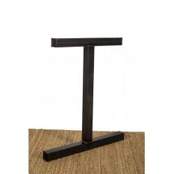 Pied de bureau en métal, modèle Icare, vue latérale