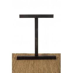 Pied de table en métal, modèle Icare, vue de face