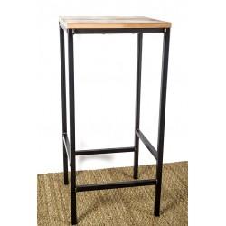 tabouret de bar noir et bois - design vintage