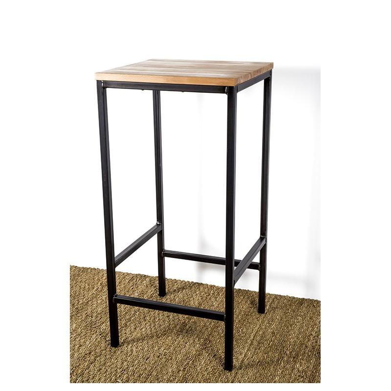 Industrial design bar stool in varnished metal - Artemis