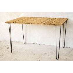 """Classic"" - Table, Desk. Hairpin Legs 71 cm - Made In France"
