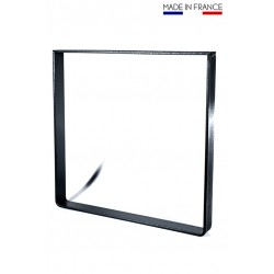 Metal square foot, industrial style 41 cm