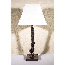 Bronze Table Lamp. Fox and Goose in Tree