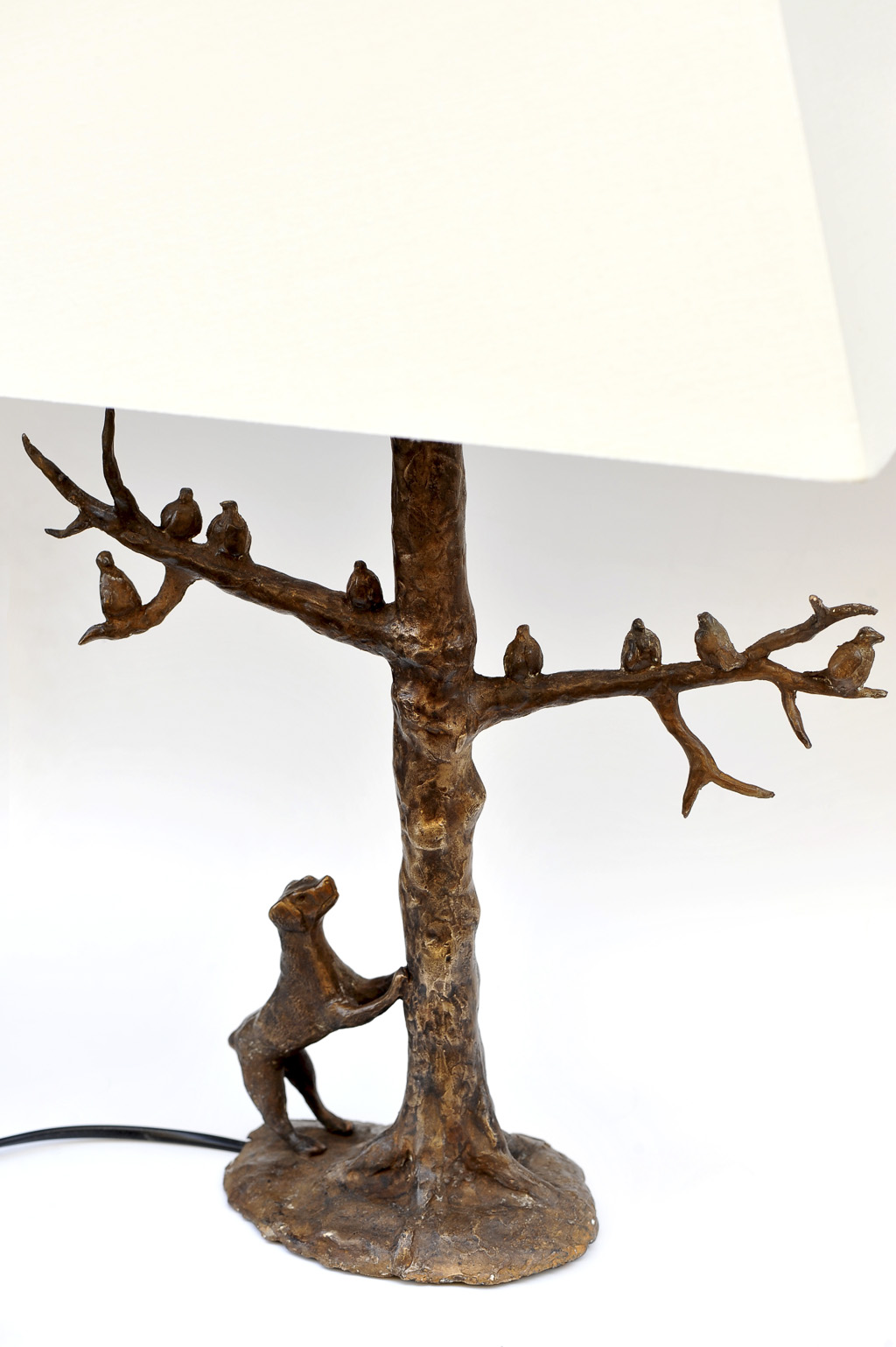 Lampe en bronze d'Hélène Leicher